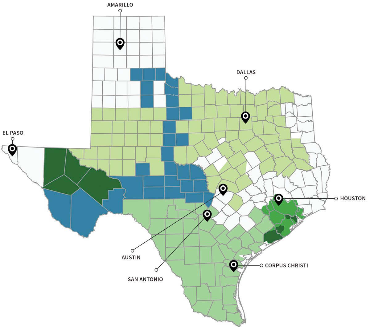 Map Of Texas With All Cities.Texas Energy Deregulation Map Electricity Deregulated Cities In Texas
