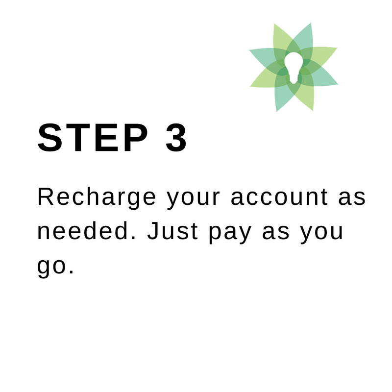 step 3 how to buy prepaid electricity