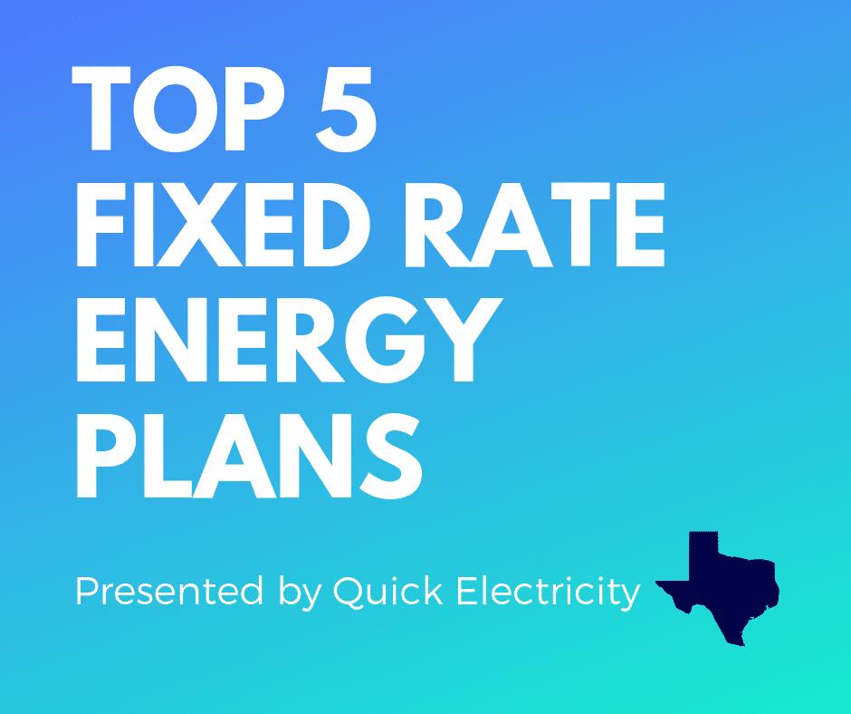 Top 5 Picks For Fixed Rate Energy Plans September 2019